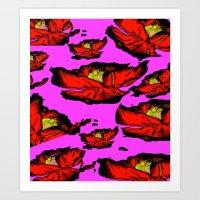 Rouge Floris Art Print