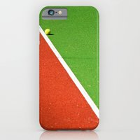 Red, green, white line and yellow tennis ball iPhone 6 Slim Case