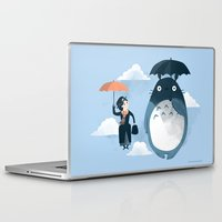 christmas Laptop & iPad Skins featuring The Perfect Neighbor by Anna-Maria Jung