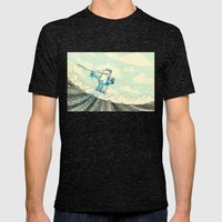 Biplane Mens Fitted Tee Tri-Black SMALL