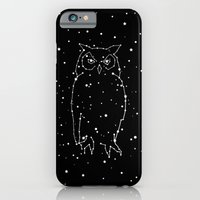 iPhone Cases featuring Owl Constellation  by Terry Fan
