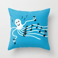 Under the C (Major) Throw Pillow