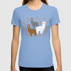 The Alpacas Womens Fitted Tee Tri-Blue SMALL