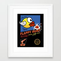 Flappy Hunt Framed Art Print