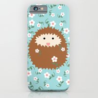 iPhone & iPod Case featuring Hedgie in Spring by virginia odien