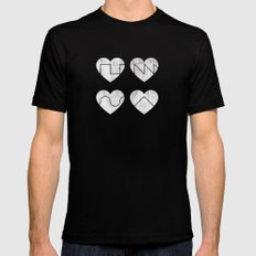 Love Synth Mens Fitted Tee Black SMALL