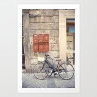 bike love::rome, italy Art Print