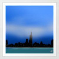 chicago Art Prints featuring Chicago by dBranes
