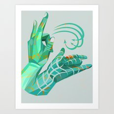 hand-shape aesthetic Art Print