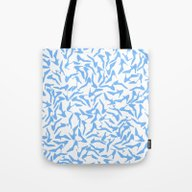 Shoes Blue Tote Bag