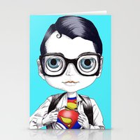 superman Stationery Cards featuring superman by Studio de Shan