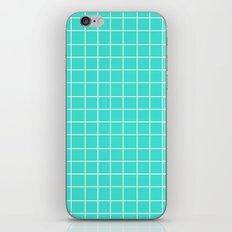 Grid (White/Turquoise) iPhone & iPod Skin