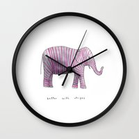 Better With Stripes Wall Clock