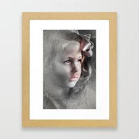 Girl with Bow Framed Art Print
