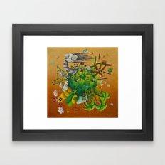 playing planet Framed Art Print