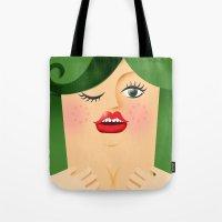 Lola Green Tote Bag