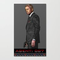 Canvas Print featuring AGENT: 007 by SPIFF ART