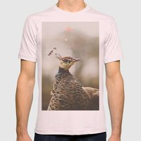 Little Miss Peahen Mens Fitted Tee Light Pink SMALL