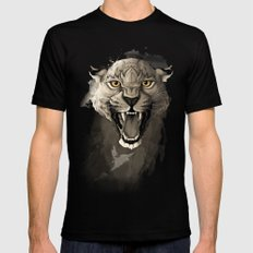 Leopard Mens Fitted Tee Black SMALL