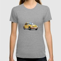 VW Beetle Womens Fitted Tee Tri-Grey SMALL