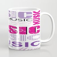 The Word Music In Purple… Mug