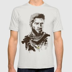 Uncharted 3 Mens Fitted Tee Silver SMALL
