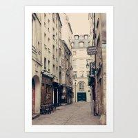 Parisian street Art Print