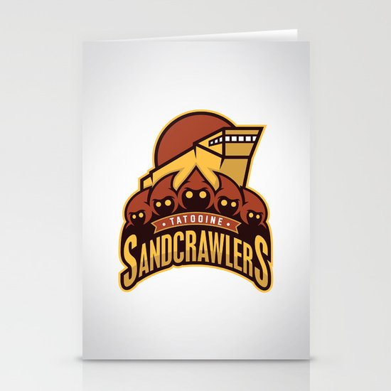 Tatooine SandCrawlers Stationery Card