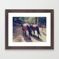 California Horses  Framed Art Print