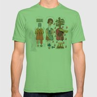 Silly Girls Mens Fitted Tee Grass SMALL