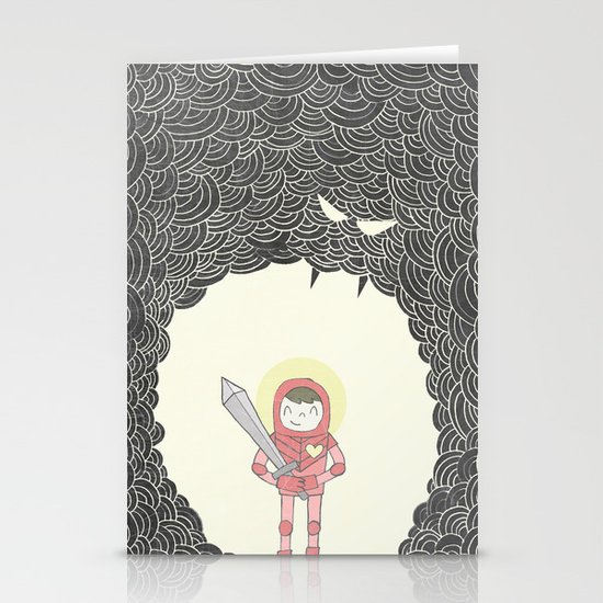 Strong Warrior Stationery Card