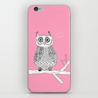Pink Owl Gives A Hoot iPhone & iPod Skin