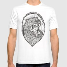 grizzly Mens Fitted Tee White SMALL