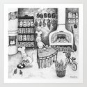 Baking Cats Art Print