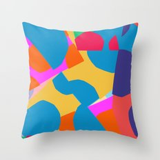 Pastel cut outs Throw Pillow