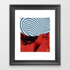Cinquante | Collage Framed Art Print