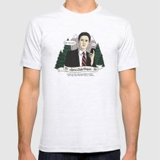 Twin Peaks (David Lynch) Agent Dale Cooper Mens Fitted Tee Ash Grey SMALL