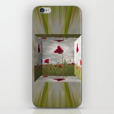 Mirrored Poppies iPhone & iPod Skin