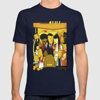 Pulp Fiction Mens Fitted Tee Navy SMALL