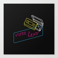 Video Is For Rent Canvas Print