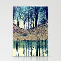 Reflection In The Wood Stationery Cards