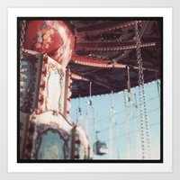 The State Fair Swing (An… Art Print