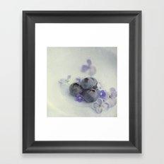 Blueberry Smile Framed Art Print