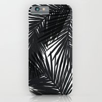 iPhone & iPod Case featuring Palms Black by Caitlin Workman