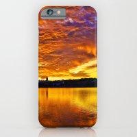 iPhone & iPod Case featuring  Burning Sky by LudaNayvelt