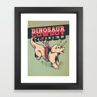 Dinosaur Cowboy Rodeo! Framed Art Print