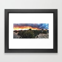 Late Summer Sunset Framed Art Print