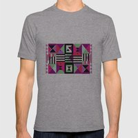 Violet Triangulation Mens Fitted Tee Athletic Grey SMALL
