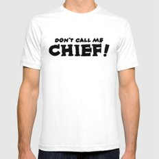 Chief SMALL White Mens Fitted Tee