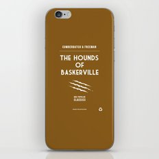 BBC Sherlock The Hounds of Baskerville Minimalist Poster iPhone & iPod Skin